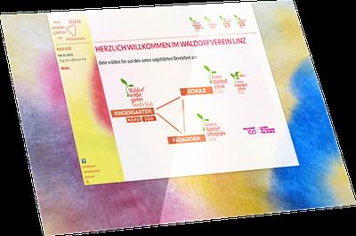 Webseite Freie Waldorfschule Linz