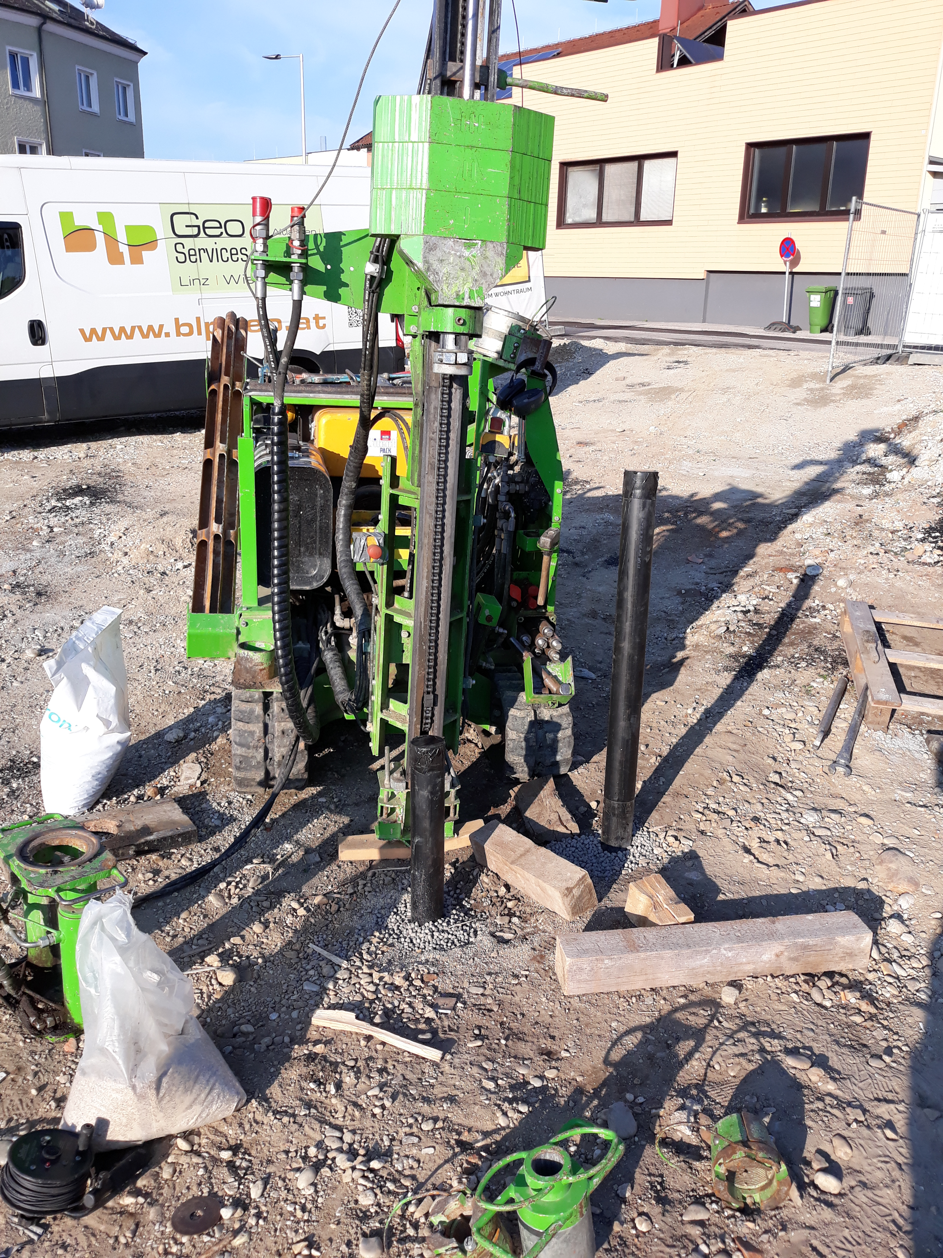 blp GeoServices Online monitoring of excavated material